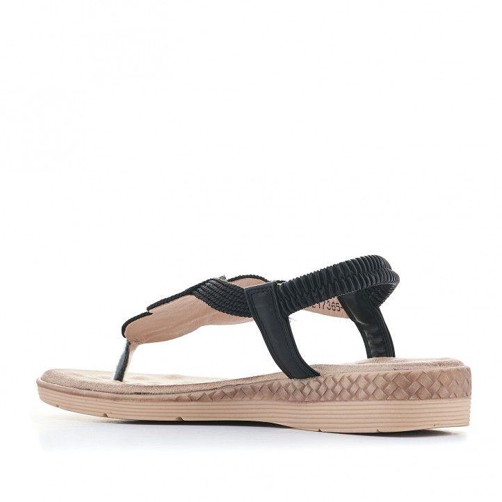 Sandalias planas You Too con semicuña y adorno fronal - Querol online