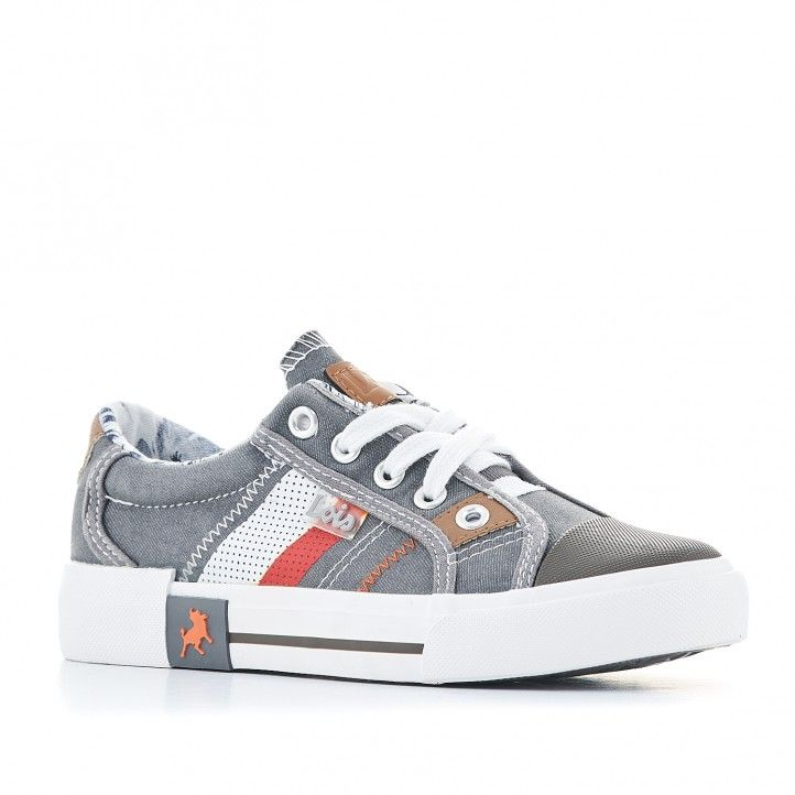 Zapatillas lona Lois denin grises - Querol online