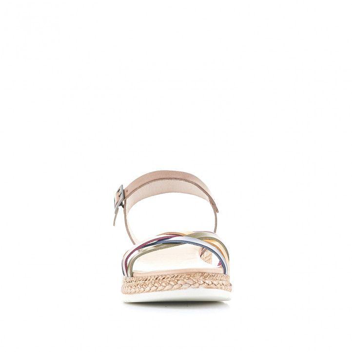 Sandàlies falca Porronet amb diverses tires multicolor - Querol online