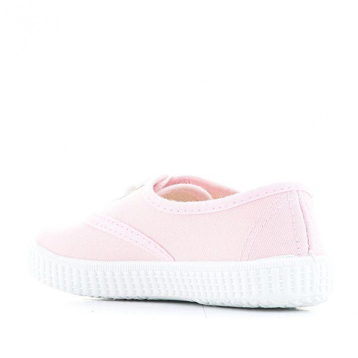 Zapatillas lona QUETS! clásicas rosas - Querol online