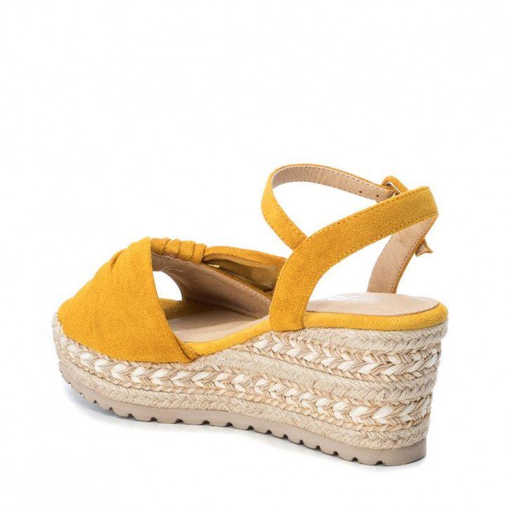 Sandàlies falca Refresh grogues amb llaç frontal - Querol online