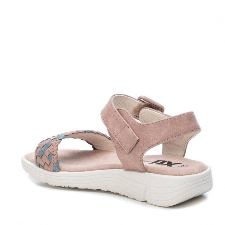 sandalias XTI KIDS con trenzado azul y rosa - Querol online