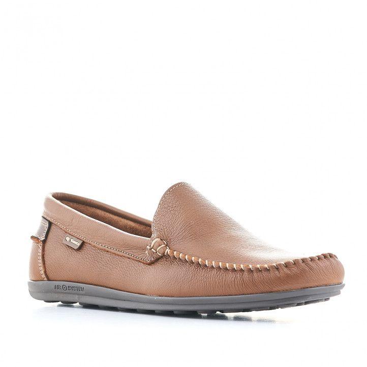 Zapatos vestir DJSANTA marrones con detalles en marrón oscuro - Querol online