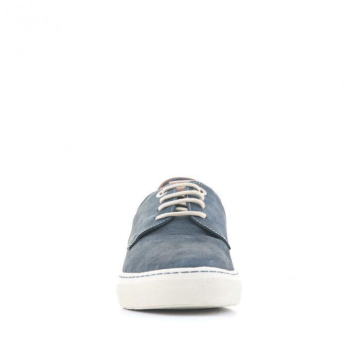 Zapatos sport Baerchi azules con detalles en cuero - Querol online