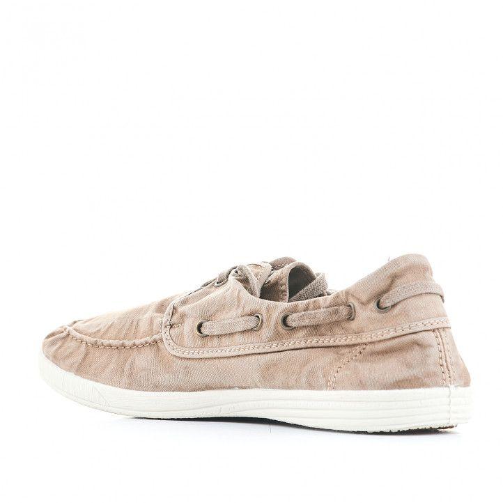 Zapatillas lona NATURAL WORLD grises con tonos marrones - Querol online