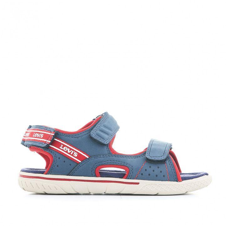 sandàlies LEVIS KIDS blaves amb detalls en vermell - Querol online