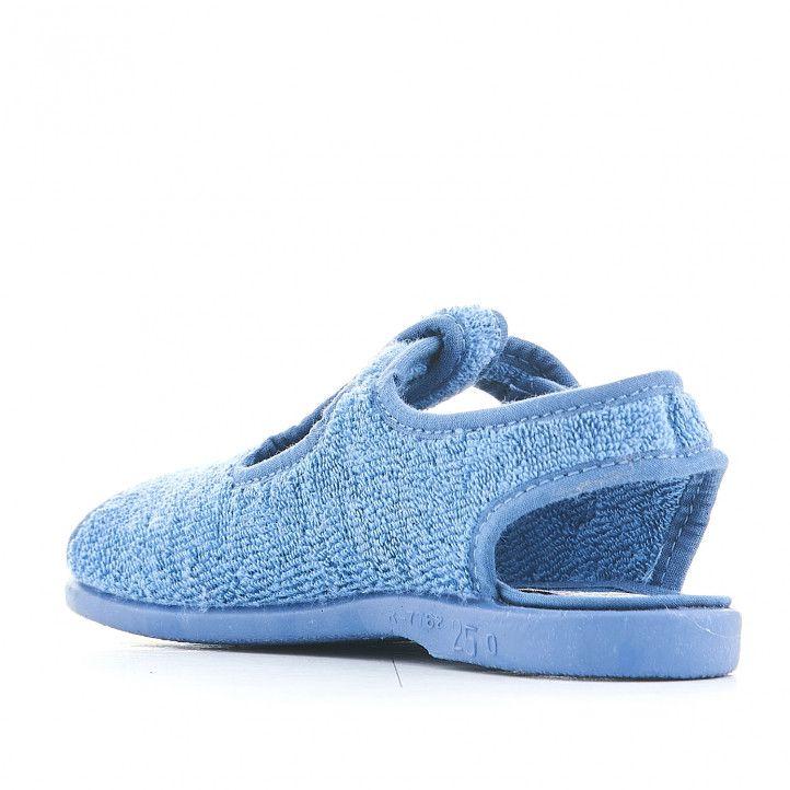 Zapatillas Vul·ladi azules cogidas al tobillo - Querol online