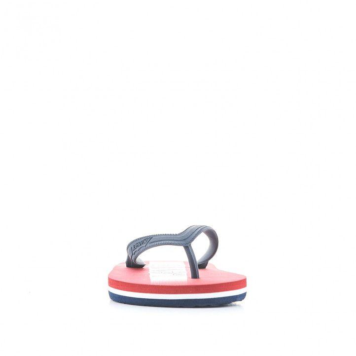 chanclas Levi's Kids azules con suela roja - Querol online