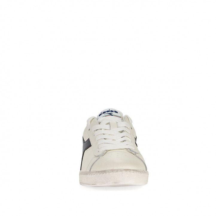 Zapatillas deportivas Diadora blancas con logo negro - Querol online