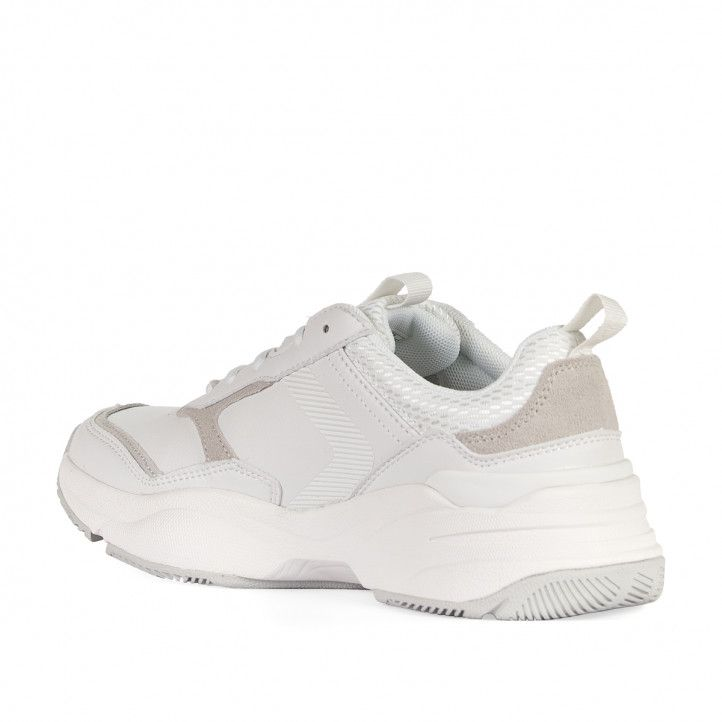 Zapatillas deportivas Levi's blancas con detalles en crema - Querol online