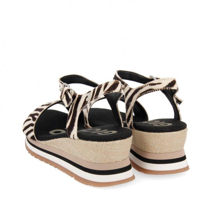 Sandàlies falca Gioseppo amb print de zebra i tascó Hardee - Querol online