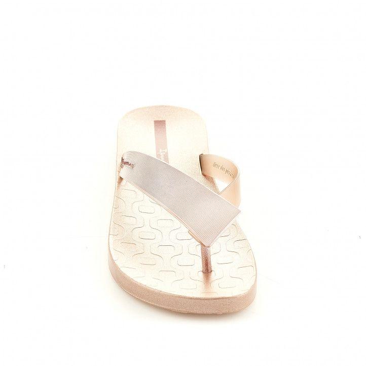 Xancles Ipanema daurades amb tires amples - Querol online