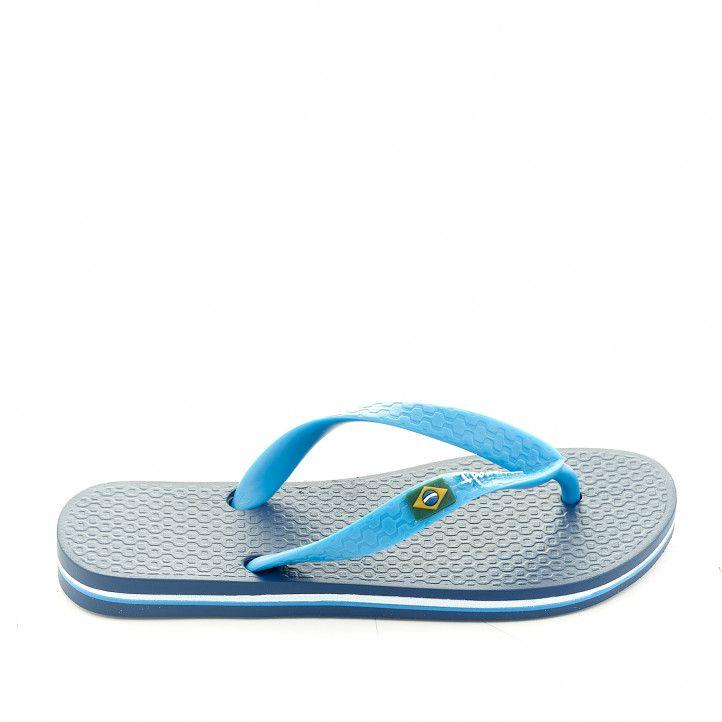 chanclas Ipanema azules con línea blanca y azul claro - Querol online