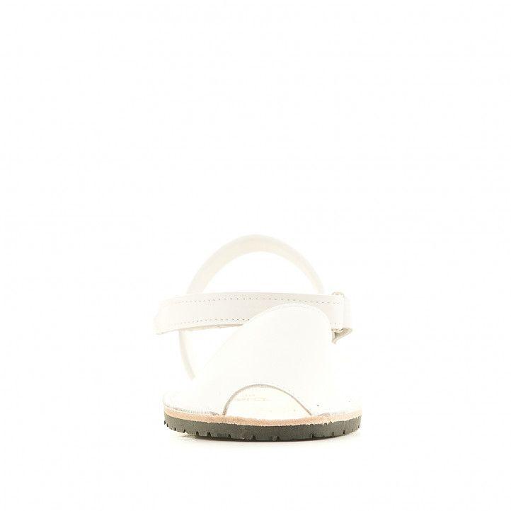 abarcas Rotger blancas cogidas al tobillo - Querol online