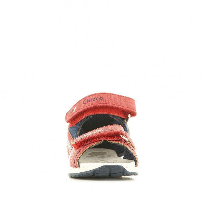 Sandàlies abotinades Chicco vermelles amb interior blanc - Querol online
