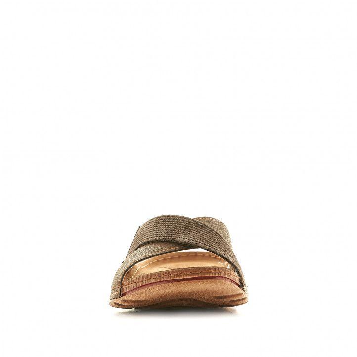 Sandalias In Blu marrones con tira delantera cruzada - Querol online