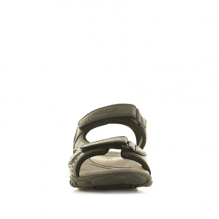 Sandalias Geox negras sport con dos tiras - Querol online