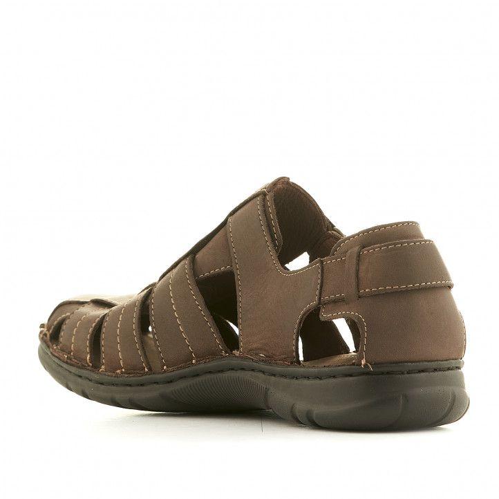 Sandalias Walk & Fly marrones cerradas - Querol online