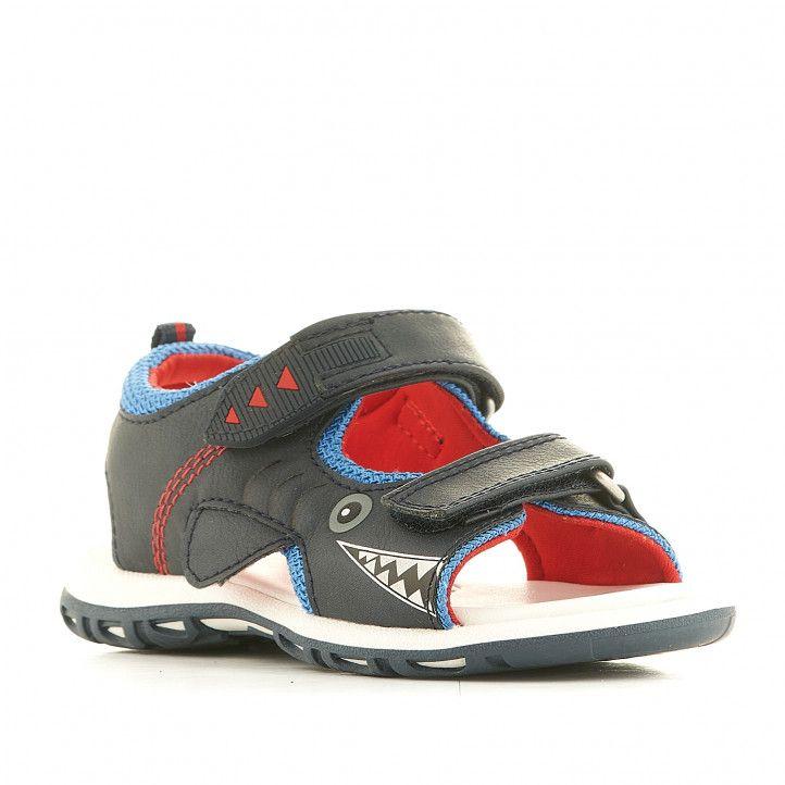 sandalias Chicco azules con estampado de tiburón - Querol online