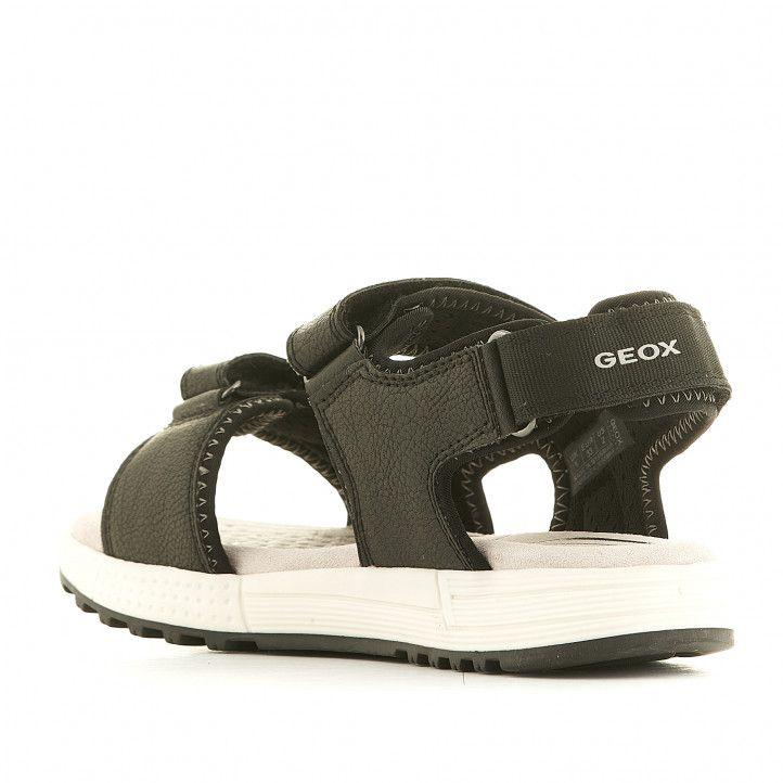 sandalias Geox negras con detalles grises y dos tiras - Querol online