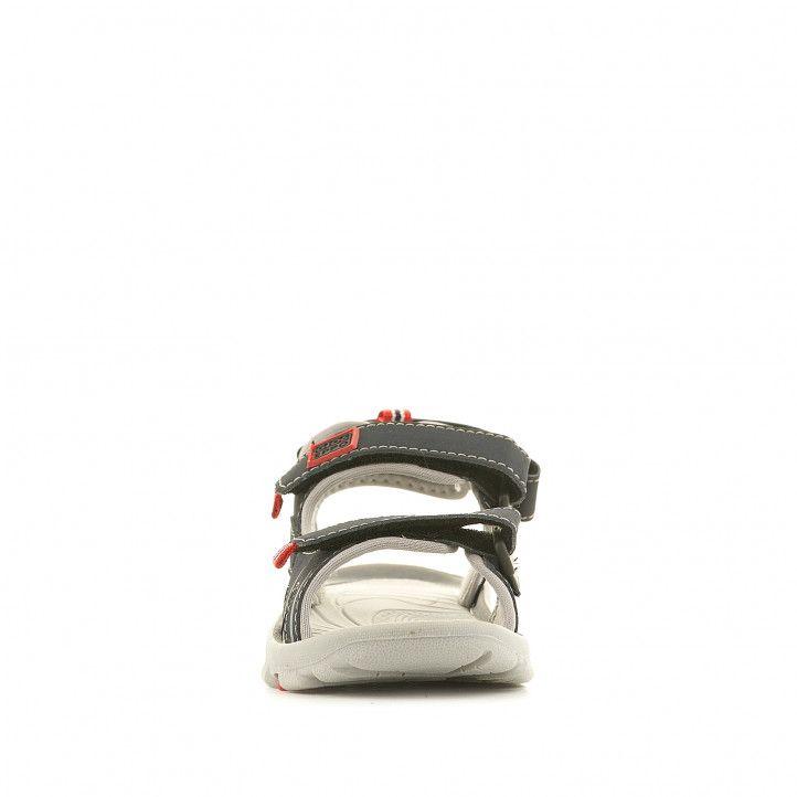 sandàlies Gioseppo blaves amb dues tires i detalls en vermell - Querol online