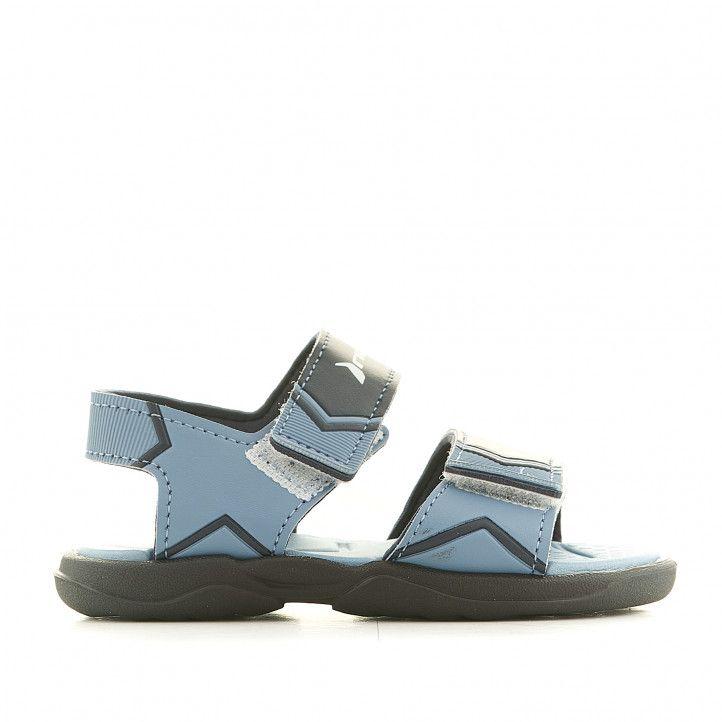 sandalias Rider azules con dos tiras - Querol online
