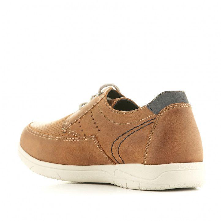 Zapatos sport Fluchos marrones con detalles azules - Querol online