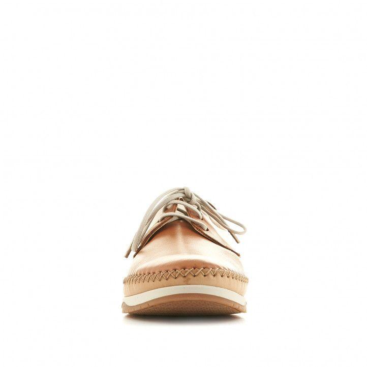 Zapatos sport Fluchos marrones con doble piso y pespuntes en forma de cruz - Querol online