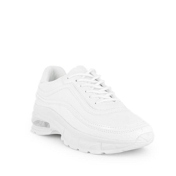 Zapatillas deportivas Owel blancas con cámara de aire - Querol online