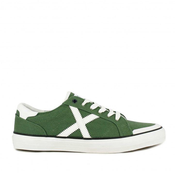 Zapatillas lona Munich verdes con cordones toc 13 - Querol online