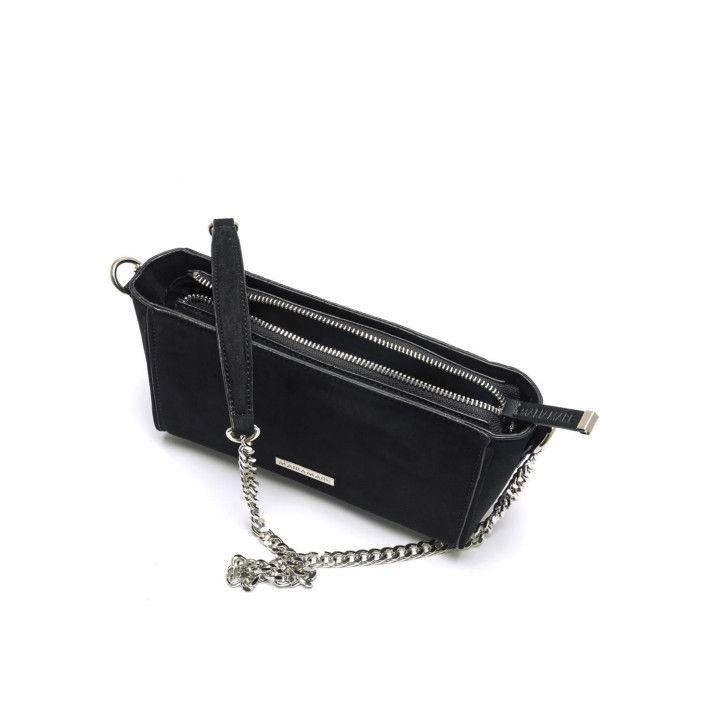 bosses Maria Mare negra petita amb cadena platejada - Querol online