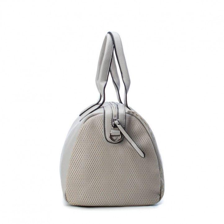 bolsos Refresh color hielo con detallesde agujeros y dos asas - Querol online
