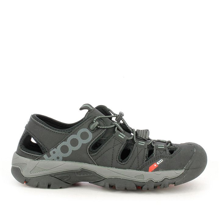 Sandalias +8000 negras con detalles en grises - Querol online