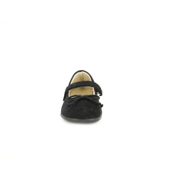 Merceditas Vul·ladi negras con tira de velcro y lazo - Querol online