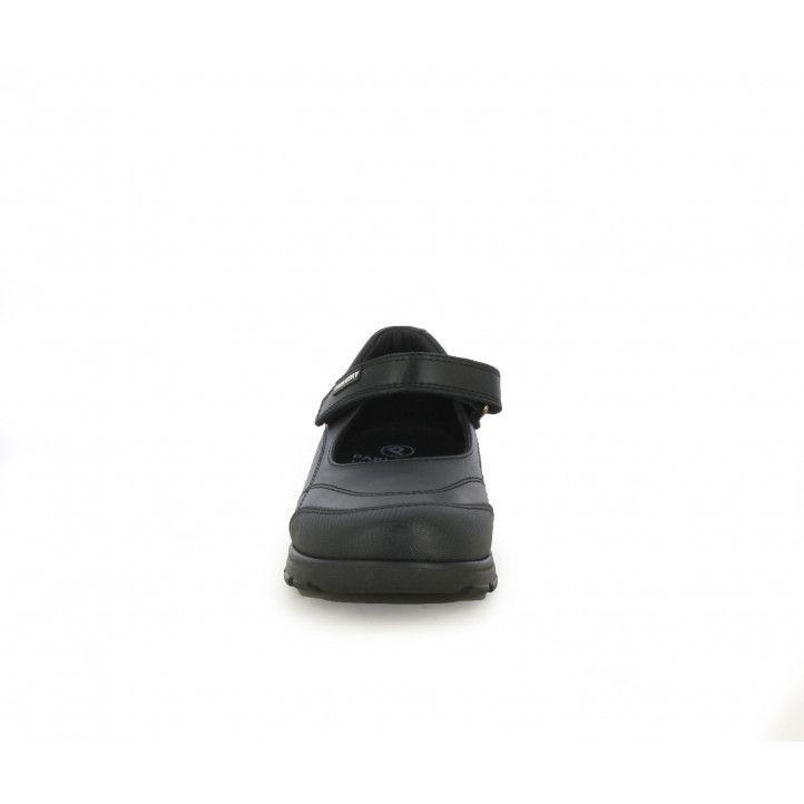 Merceditas Pablosky negras de piel con velcro - Querol online