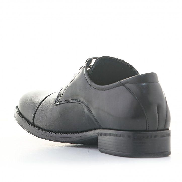 Zapatos vestir Baerchi de piel negros con cordones estilo blucher - Querol online
