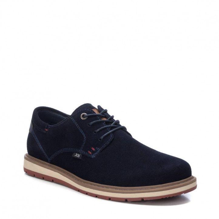 Zapatos sport Xti de cordones azul marino - Querol online