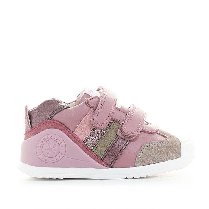 Zapatillas deporte Biomecanics de piel rosas con diferentes texturas y colores - Querol online