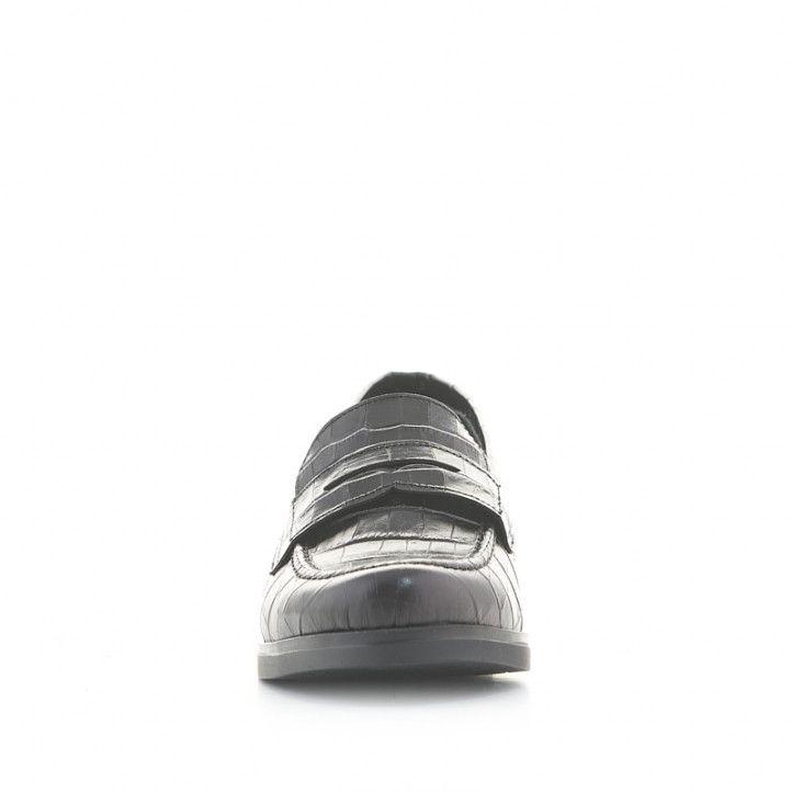 Zapatos tacón Redlove aphra negros de piel estampado cocodrilo - Querol online
