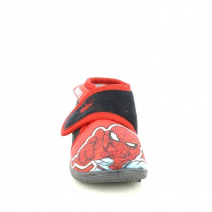Espardenyes casa Cerda negres i vermelles amb velcro de spiderman - Querol online